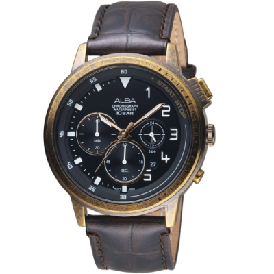ALBA 野蠻遊戲計時男錶(VD53-X340U AT3G40X1)