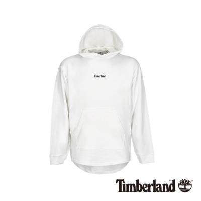 Timberland 男款白色連帽套頭長袖上衣|A1XJR