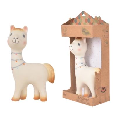 【TIKIRI 斯里蘭卡】搖鈴固齒器玩具 (羊駝)
