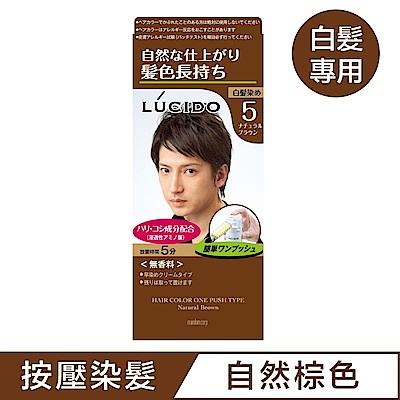 LUCIDO倫士度 按壓式染髮霜(自然棕50g+50g)