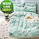 La Lune 台灣製40支精梳純棉新式兩用被雙人床包五件組 森林變裝秀 product thumbnail 1