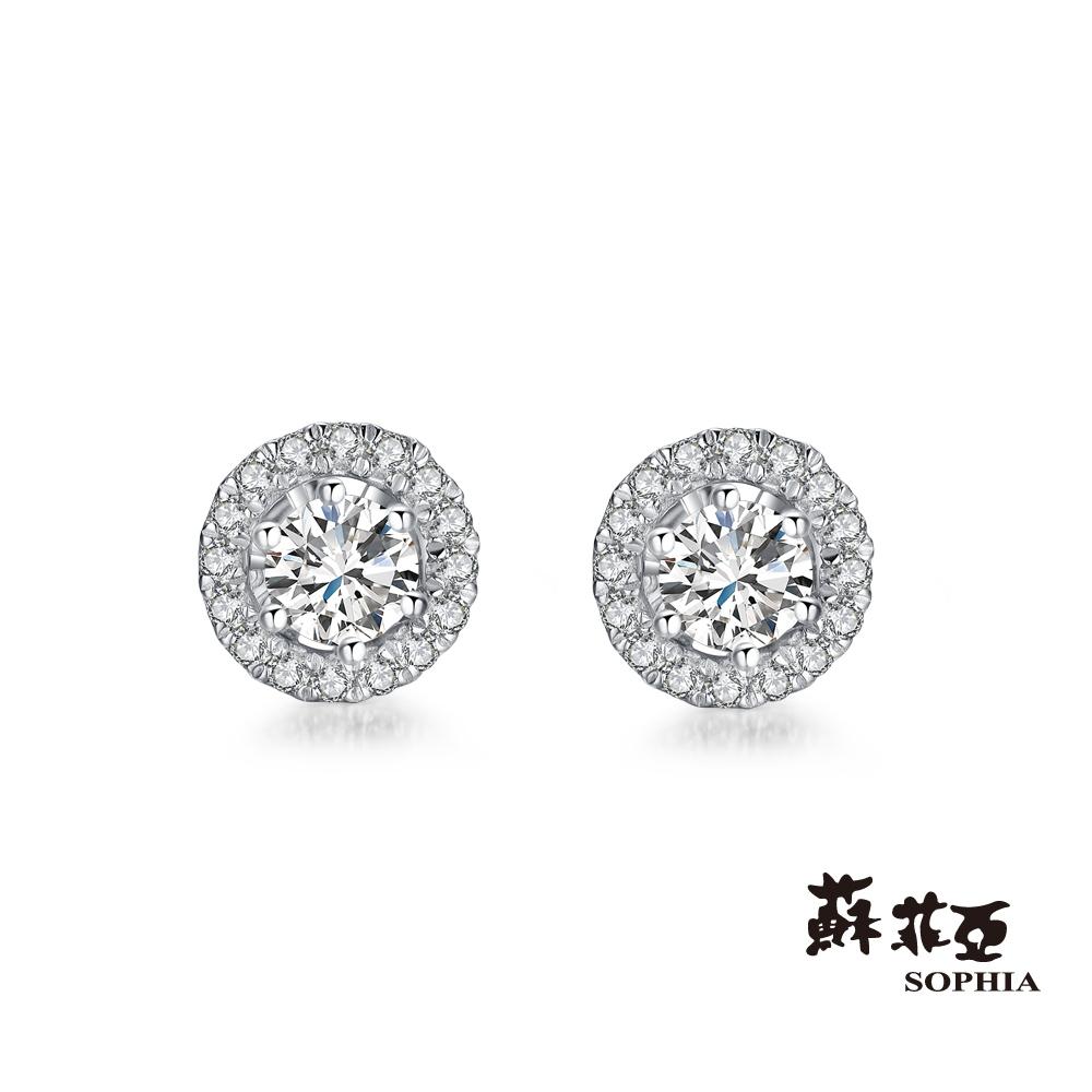 蘇菲亞SOPHIA -SIMPLE系列2 WAY鑽石耳環