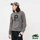 ROOTS男裝  周年系列R logo長袖T恤-灰色