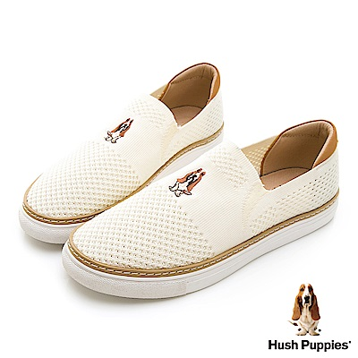 Hush Puppies Puppy 針織直套便鞋-白
