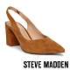 STEVE MADDEN-SLINGBACK 麂皮尖頭繞踝粗跟高跟女鞋-咖啡色 product thumbnail 1