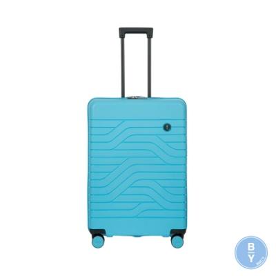 BRICS 義大利 BY Ulisse 28吋 淺藍 可擴充拉鍊拉桿箱 USB充電孔