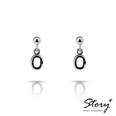 STORY故事銀飾-Charm扣扣系列-基礎耳環(硫化款)