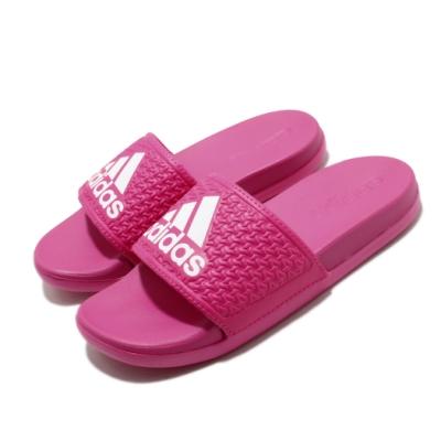 adidas 涼拖鞋 Adilette Comfort K 童鞋 愛迪達 夏日 透氣 快速排水 中童 粉 白 EG1871