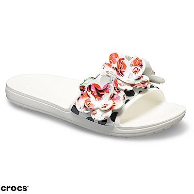 Crocs 卡駱馳 (女鞋) 永恆系列思瓏玫瑰涼拖 205256-100 @ Y!購物