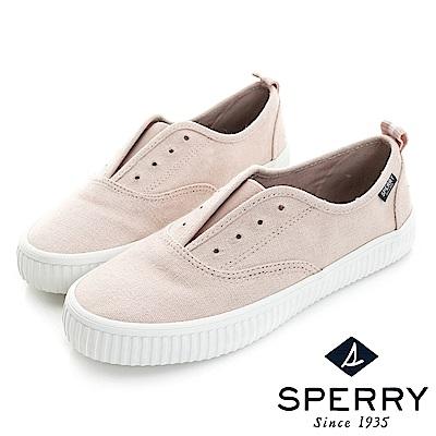 SPERRY 韓版粉彩輕便帆布鞋-寬楦(蜜甜粉)