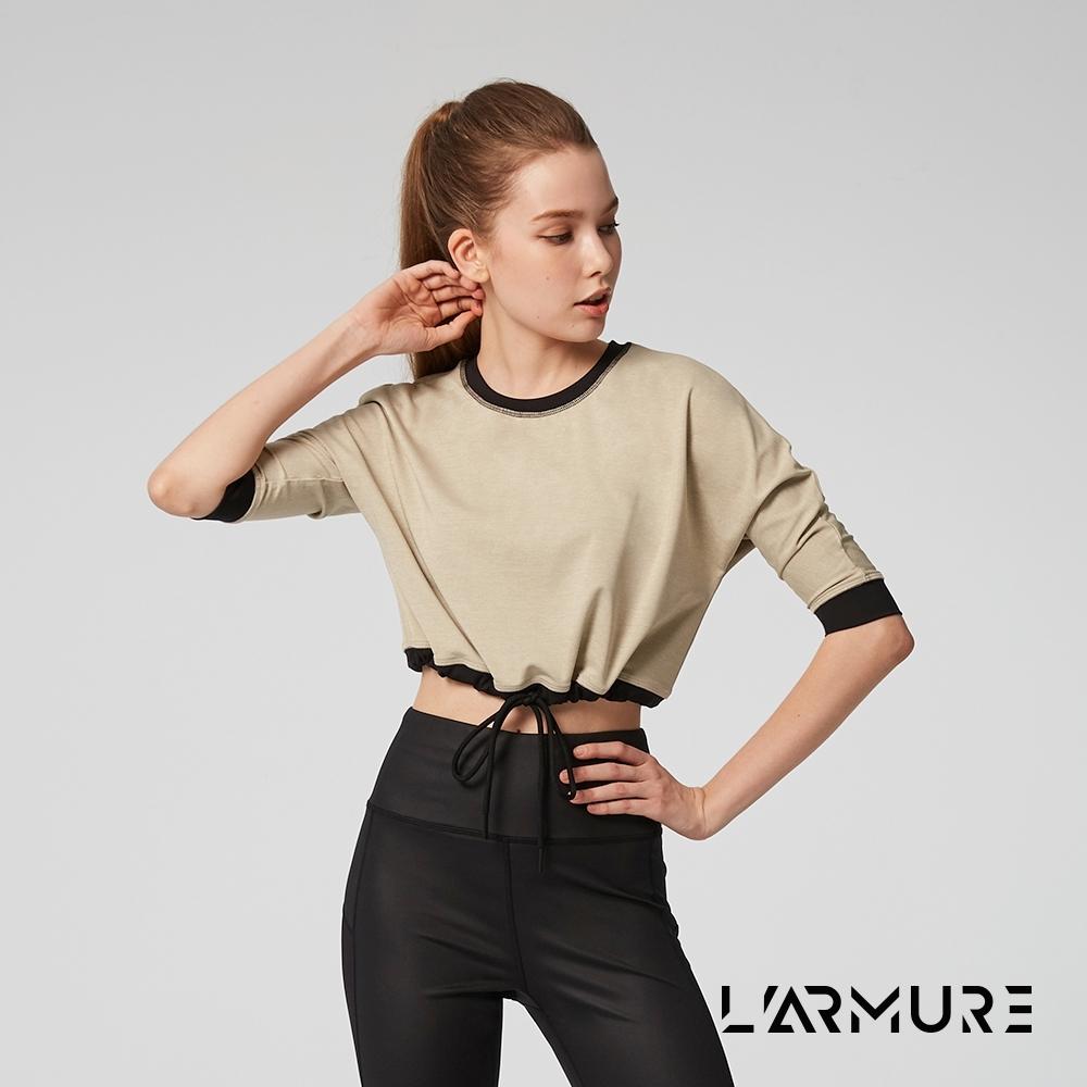 L'ARMURE 女裝 ECO-lor短版七分袖上衣 (麻花米色)
