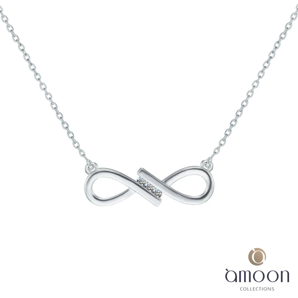 amoon 浪漫艾菲爾系列 珍愛 K金鑽石項鍊
