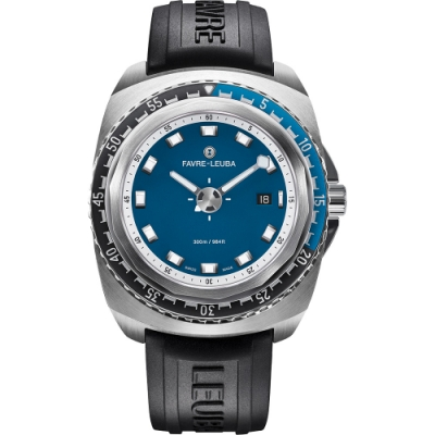 FAVRE-LEUBA 域峰 RAIDER Deep Blue 300米潛水機械錶-44mm
