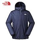 The North Face北面男款藍色防潑水可收納式連帽風衣外套|2XTCH2G