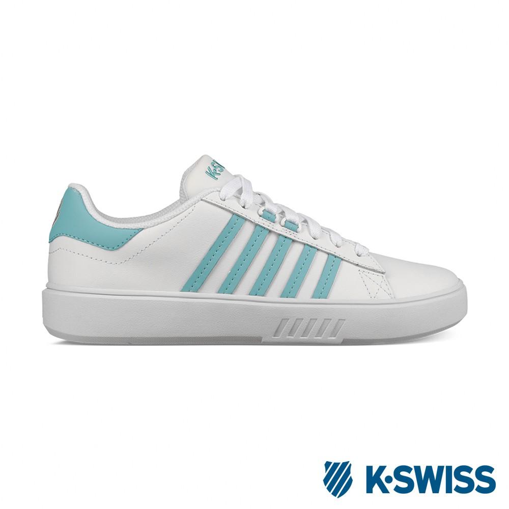 K-SWISS Pershing Court CMF 休閒運動鞋-女-白/藍綠