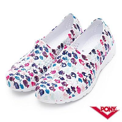 【PONY】TROPIC 輕量舒適GOGO鞋 涼鞋 拖鞋-中性-小魚