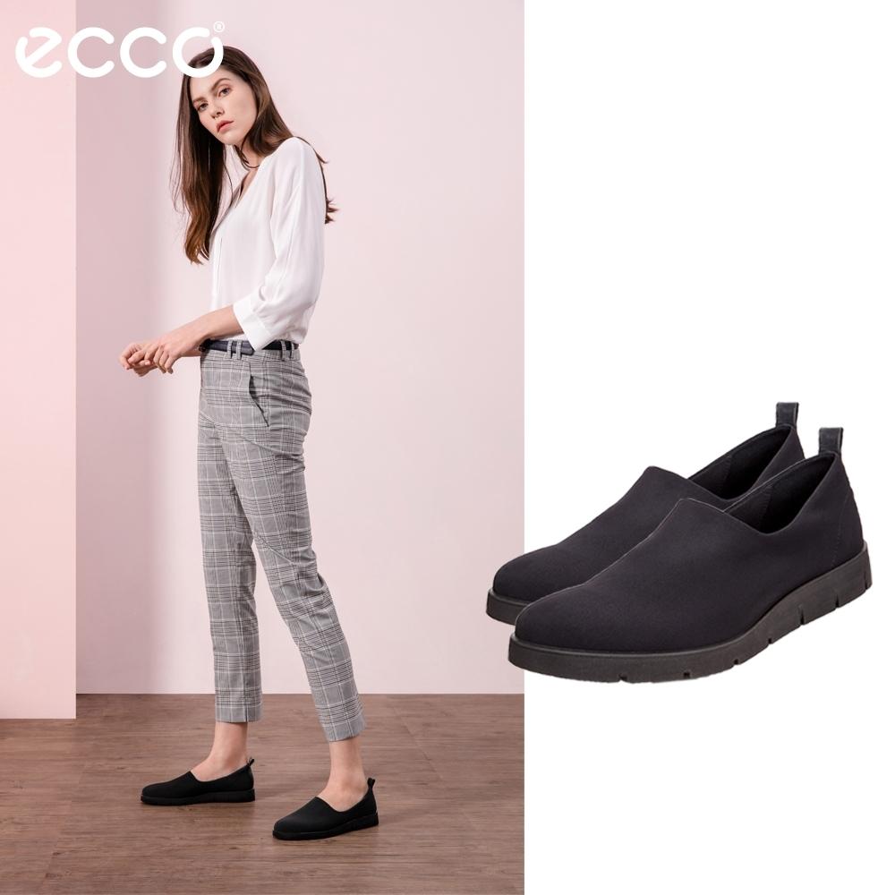 ECCO BELLA 經典簡約厚底休閒鞋 女-黑