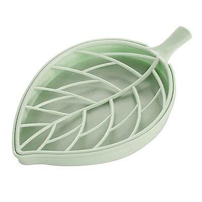 樹葉 葉子精緻造型雙層肥皂盤 肥皂盒