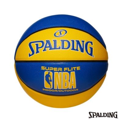 SPALDING NBA SUPER FLITE系列-藍/黃 合成皮 #7