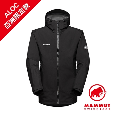 【Mammut 長毛象】Convey Tour HS Hooded Jacket GTX AF 防風防水連帽外套 黑/白 男款 #1010-28450