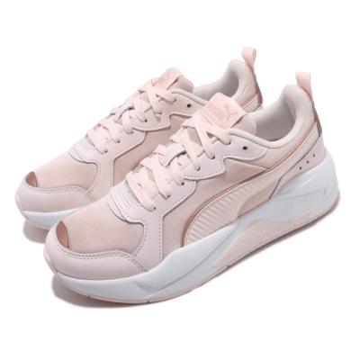 Puma 休閒鞋 X Ray Metallic 運動 女鞋 基本款 舒適 簡約 厚底 球鞋穿搭 粉 白 37307203