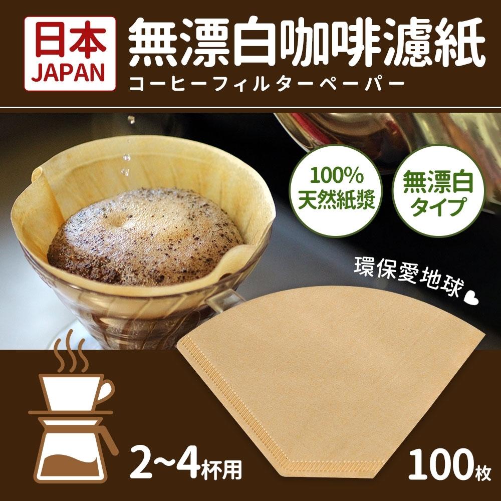 日本製2-4人份咖啡濾紙100枚 (無漂白)