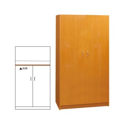韓菲-木紋塑鋼雙門衣櫃-91x61.5x180cm