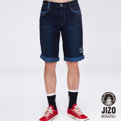 地藏小王  BLUE WAY  -  幻化閻魔彈性短褲(藍)
