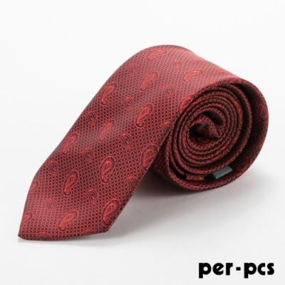per-pcs 商務體面優質領帶紅_D-124