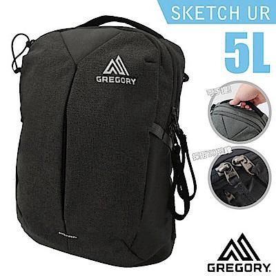 美國 GREGORY Sketch 5 UR 多功能日用可調式斜背包5L_黑碳