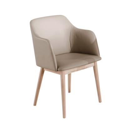Boden-莎卡瑞皮面扶手實木餐椅/單椅