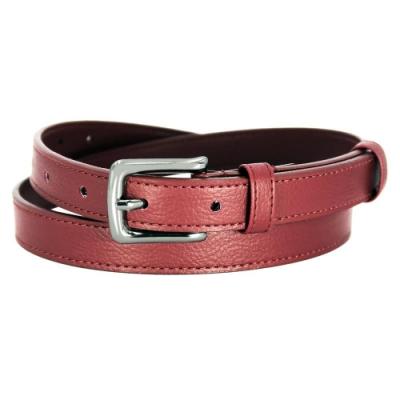 CH-BELT熱情火紅曲線細版女生皮帶腰帶(紅)