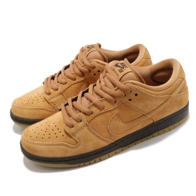 Nike 滑板鞋 SB Dunk Low 運動 男鞋 經典款 大便 厚鞋舌 麂皮 質感 穿搭 棕 黑 BQ6817204