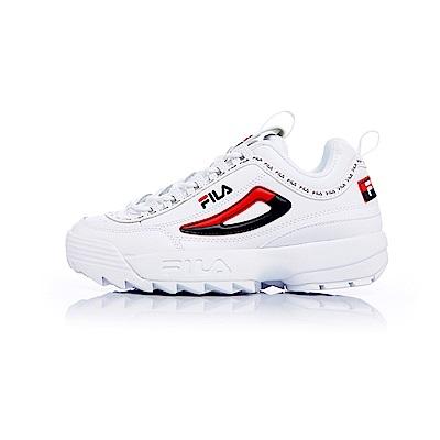 FILA DISRUPTOR中性運動鞋(鋸齒鞋)白 4-C608T-126