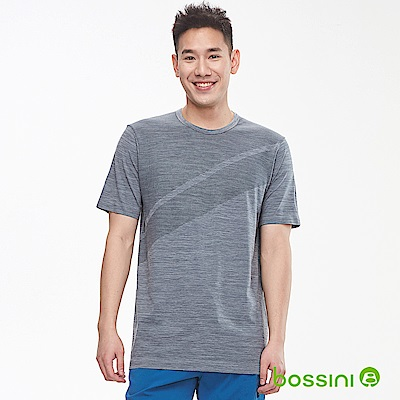 bossini男裝-無縫圓領短袖T恤01冷灰