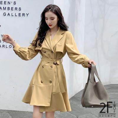 2F韓衣-魚尾風衣外套
