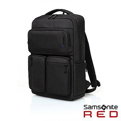 Samsonite RED ALLOSSE 多隔層收納型筆電後背包14(墨黑)