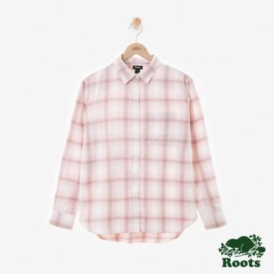 女裝Roots Journey法蘭絨襯衫-粉色
