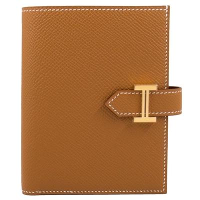 Hermes Bearn 短夾 (焦糖 Gold x 金釦) Bearn Compact H扣/H釦 Epsom