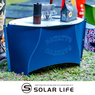 日本PATATTO 可攜式輕量薄型露營摺疊桌(大) 附收納袋.PATATOO桌