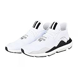 adidas Y-3 SAIKOU 印花LOGO不織布運動鞋(白)