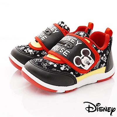 迪士尼童鞋 米奇皮質印花休閒款 ON19365黑(中小童段)