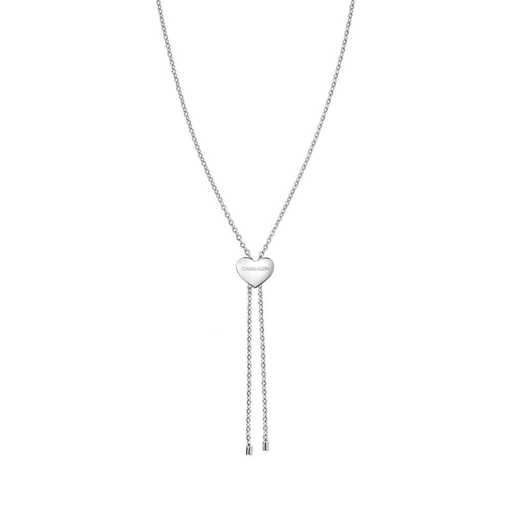 CALVIN KLEIN side 系列項鍊-心型項鍊銀色版