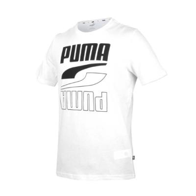PUMA 男基本系列短袖T恤-亞規 純棉 REBEL 休閒上衣 慢跑 58348802 白黑