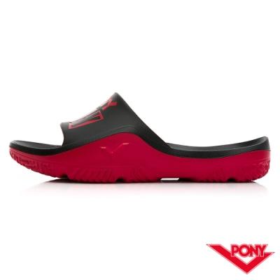 【PONY】PARK-X系列拖鞋-中性款-龐克/黑