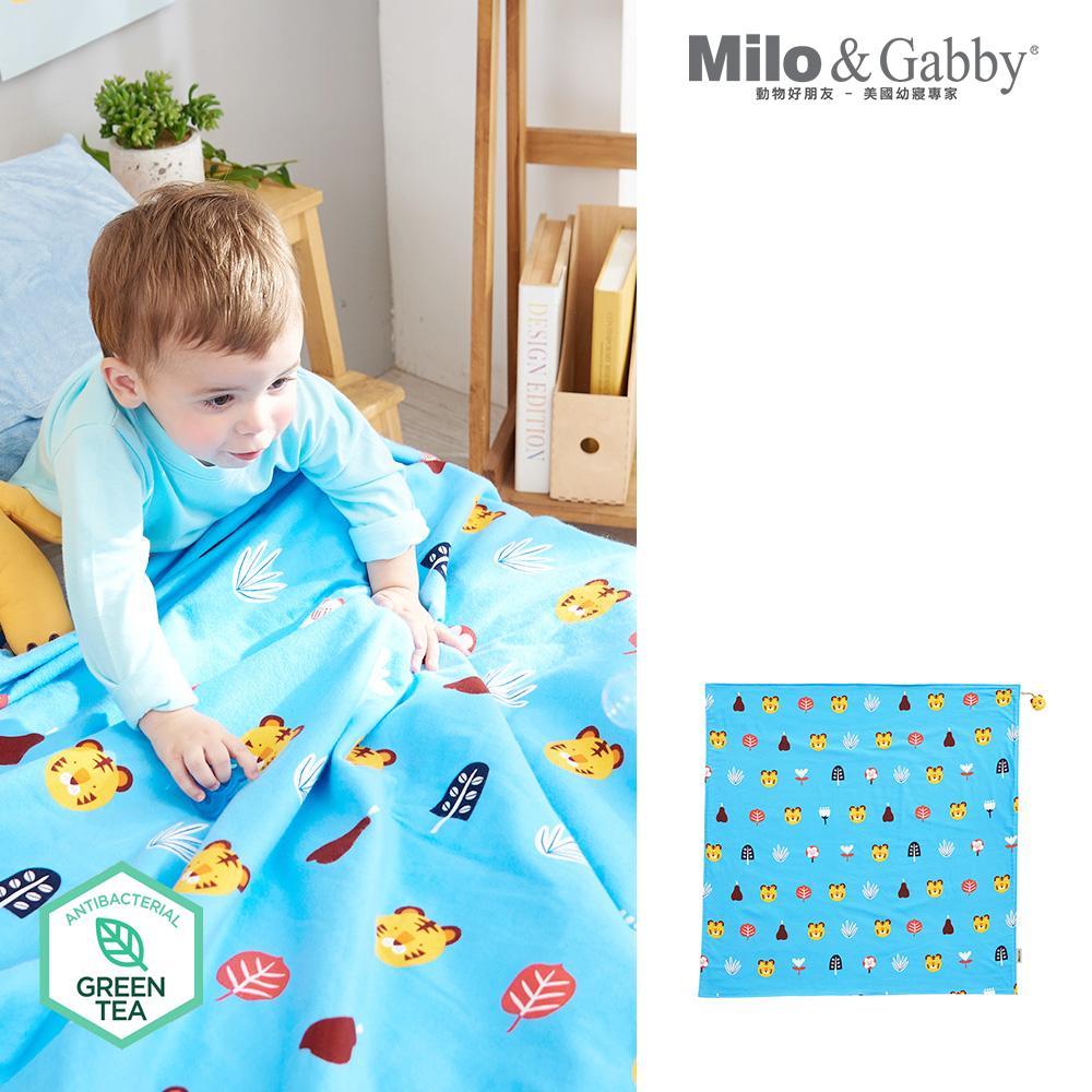 Milo& & Gabby 動物好朋友-雙面寶寶棉蓋毯(TOM花園)