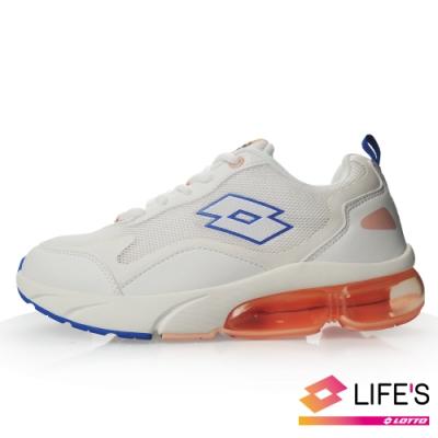 LOTTO 義大利 女 FLOAT 氣墊跑鞋(米/白)