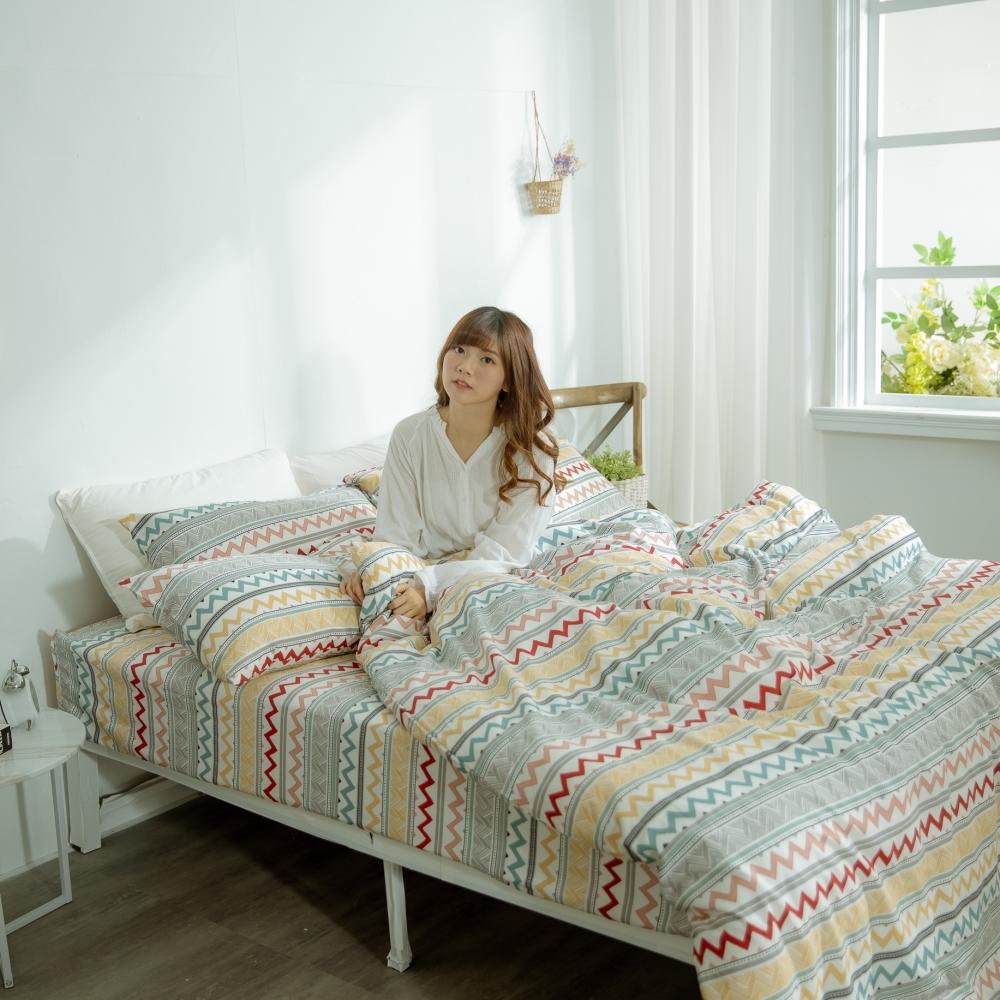 AmissU 頂級60支新疆長絨棉單人床包雙人被套三件組 浮生若夢