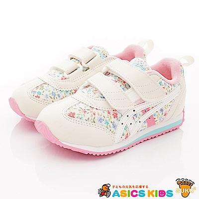 亞瑟士SUKU2機能鞋 經典護足款 MON87-700白粉(中小童段)