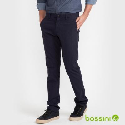 bossini男裝-彈性長褲03深藍色